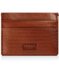 Shinola - Embossed Card Case - Lyst