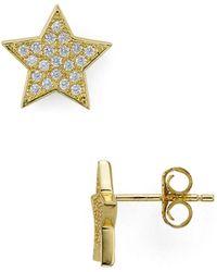 Aqua - Star Stud Earrings - Lyst