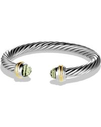 David Yurman - Cable Classics Bracelet With Prasiolite And Gold - Lyst