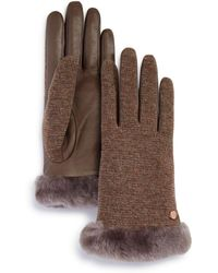 UGG - Shorty Shearling-cuff Tech Gloves - Lyst