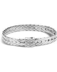 John Hardy - Sterling Silver Modern Chain Bracelet With Diamonds - Lyst