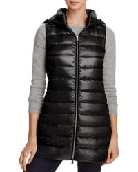 Herno - Hooded Long Down Vest - Lyst