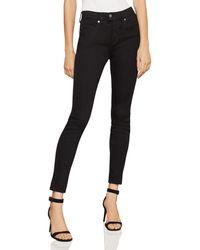 BCBGMAXAZRIA - High-rise Vented-hem Skinny Jeans In Blackout - Lyst