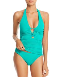 Lauren by Ralph Lauren - Ralph Beach Look Halter Tankini Top - Lyst
