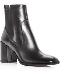 Via Spiga - Woman's Delaney Leather High Heel Booties - Lyst