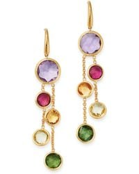 Marco Bicego - 18k Yellow Gold Jaipur Color Two-strand Gemstone Drop Earrings - Lyst