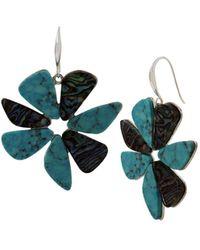 Robert Lee Morris - Turquoise Pinwheel Drop Earrings - Lyst