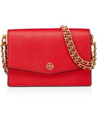 Tory Burch - Robinson Mini Leather Convertible Shoulder Bag - Lyst