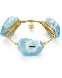 Bourbon and Boweties - Blue Agate Bangle - Lyst