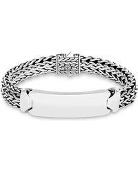 John Hardy - Sterling Silver Classic Chain Id Bracelet - Lyst