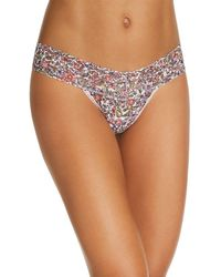 Hanky Panky - Low - Rise Printed Lace Thong - Lyst