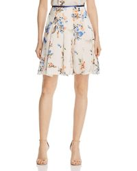 Armani - Floral-print Flared Shorts - Lyst