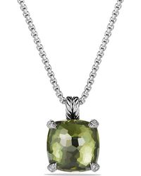 David Yurman - Châtelaine Pendant Necklace With Green Orchid And Diamonds - Lyst