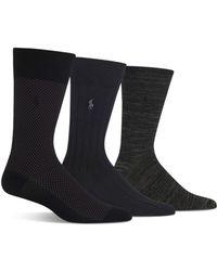 Polo Ralph Lauren - Solid Rib & Mélange Trouser Socks - Pack Of 3 - Lyst