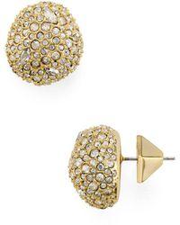 Alexis Bittar - Pavé Button Earrings - Lyst