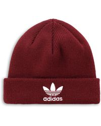 8b852747 Lyst - adidas Originals Trefoil Logo Hat in Red for Men