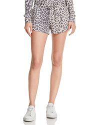 Chaser - Leopard Drawstring Shorts - Lyst