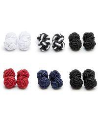 Bloomingdale's - Silk Knot Cufflink Set - Lyst