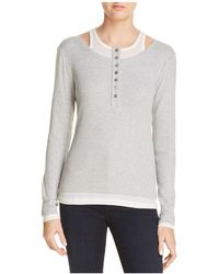 T By Alexander Wang - Layered-look Henley Top - Lyst