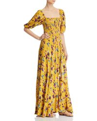 05fdf73d93ce Band Of Gypsies - Madrid Smocked Floral-print Maxi Dress - Lyst