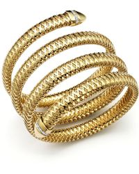 Roberto Coin - Primavera 18k Yellow And White Gold Flex Diamond Bracelet - Lyst
