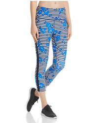 Kate Spade - Hibiscus Striped Cropped Leggings - Lyst