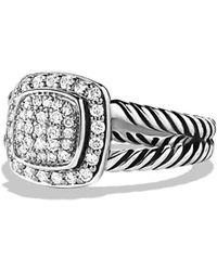 David Yurman - Petite Albion Ring With Diamonds - Lyst