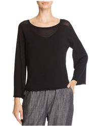 Eileen Fisher - Lightweight Boat-neck Sweater - Lyst