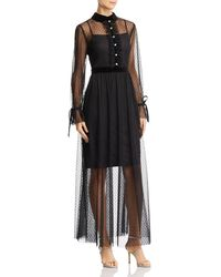 Betsey Johnson - Point D'esprit Maxi Dress - Lyst
