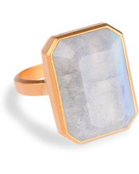 Ringly - Aries Activity Tracker Smart Ring In Moonstone - Lyst