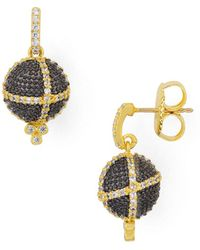 Freida Rothman - Textured Ornament Drop Earrings - Lyst