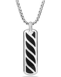 David Yurman - Graphic Cable Ingot Tag With Black Onyx - Lyst