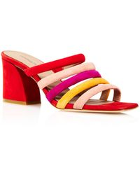Donald J Pliner - Women's Wes Color-block Suede High Heel Slide Sandals - Lyst