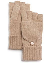 C By Bloomingdale's - Pop Top Cashmere Mittens - Lyst