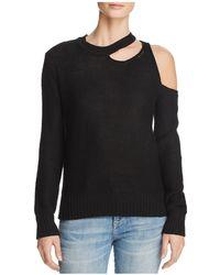 Aqua - Cutout Sweater - Lyst
