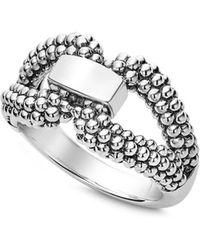 Lagos - Sterling Silver Derby Caviar Ring - Lyst
