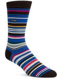Calvin Klein - Barcode Multistripe Socks - Lyst