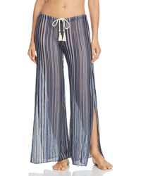 Becca - Pier Side Striped Swim Cover - Up Pants - Lyst