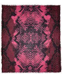 Zadig & Voltaire - Delta Wild Snake Print Scarf - Lyst