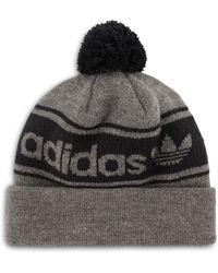 e53847a22de adidas Originals Logo Beanie Hat in Black for Men - Lyst