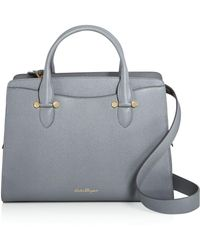 Ferragamo - Today Large Leather Tote - Lyst