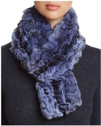 Maximilian | Chinchilla Fur Knit Scarf | Lyst