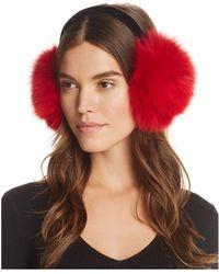 Surell | Fox Fur Velvet Band Earmuffs | Lyst