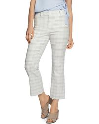 1.STATE - Cropped Check-print Pants - Lyst