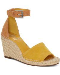 Vince Camuto - Women's Leera Suede Espadrille Wedge Sandals - Lyst