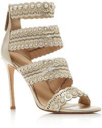 Pour La Victoire - Women's Ellura Embellished Leather High-heel Sandals - Lyst