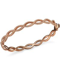 Roberto Coin - 18k Rose Gold Single Row Twisted Bangle - Lyst