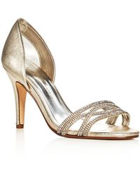 Caparros - Irina Metallic Embellished D'orsay Court Shoes - Lyst