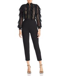 French Connection - Lace & Ruffle Jumpsuit - Lyst