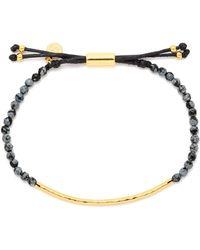 Gorjana - Gold-tone Stone Beaded Bracelet - Lyst